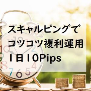 スキャルピングでコツコツ複利運用1日10Pips
