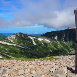 白馬岳登山②(白馬大池~白馬岳。大絶景の稜線歩き)