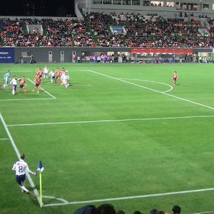 NACK5スタジアム大宮(埼玉県さいたま市) ピッチは目の前