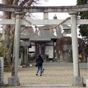 三ツ石神社(岩手県盛岡市)巨石の周りでさんさを踊る