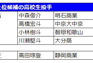 広島カープ今年のドラフト誰を指名する?~開幕直前編~