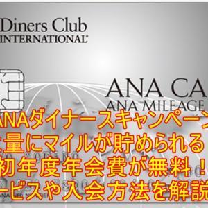 【10月最新】ANAダイナースのキャンペーン!最大68,000マイルまたは年会費無料+最大35,000マイル!メリットやお得な申し込み方も解説