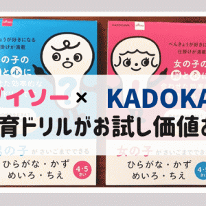ダイソーで発見!KADOKAWAコラボの知育ドリルはお試し価値あり!
