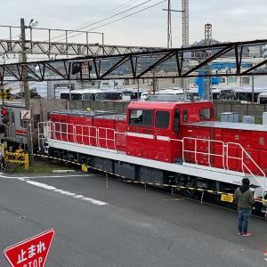 【鉄道】総車横浜(逗子)甲種輸送で訪れるDD200