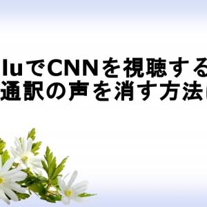 HuluでCNNを視聴する際に同時通訳の声を消す方法は?2つの注意点も!