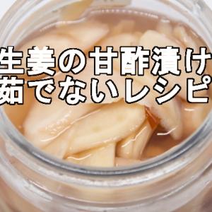 新生姜の甘酢漬け!茹でないレシピの3つのポイントと保存期間について
