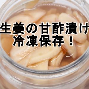 新生姜の甘酢漬けの冷凍保存!食べるときはどうする?解凍や期間について