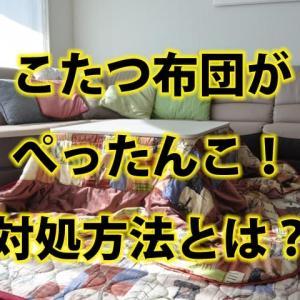 こたつ布団がぺったんこ!自宅で洗えない場合の対処方法とは?