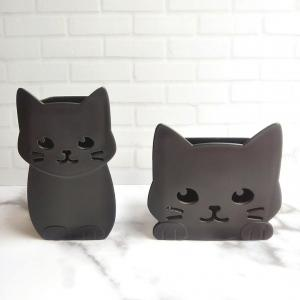 【100均】セリア*黒猫が可愛い小物入れ♡
