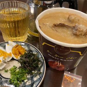 鶏と蓮の実のとろとろなお粥で、元気をチャージ(An Nam Chao ハノイ)