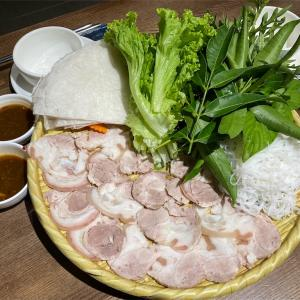 露干しライスペーパーで手巻きランチ(Phố Ngon 37 ハノイ)