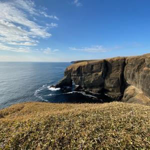 12月の涙岬と立岩