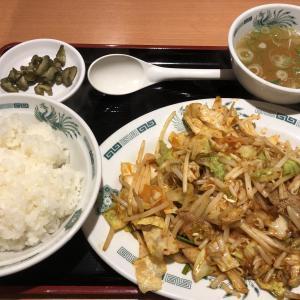 日高屋 バクダン炒め定食