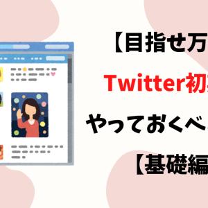 【目指せ万垢】Twitter初期にやっておくべき設定【基礎編】