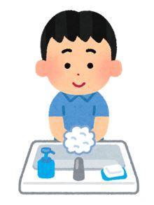 息子の手洗い