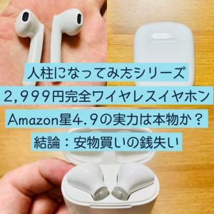 【人柱シリーズ】Hihiccupのワイヤレスイヤホンは買いなのか?【2,999円の完全ワイヤレス】