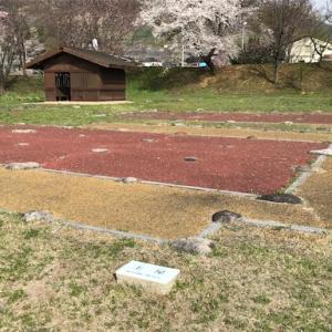 勝沼氏館跡 (山梨県甲州市) -たくさんの平面復原が見ていて楽しい武田家臣の館跡