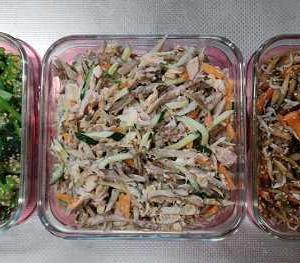 今週の常備菜とか、いちじくのジャムとか、シフォンケーキとか。