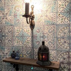 我が家のトイレはモロッコ・インテリア♪
