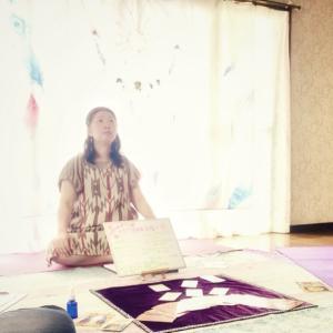 『風待月6月会』アロマスプレーと瞑想とガーランドと
