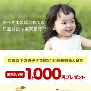 子供の楽天銀行の口座開設で1,000円もらえる♪