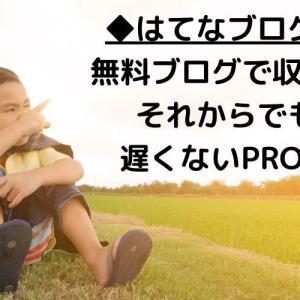 ◆はてなブログ◆無料ブログで収益化してからでも遅くないPRO化◆
