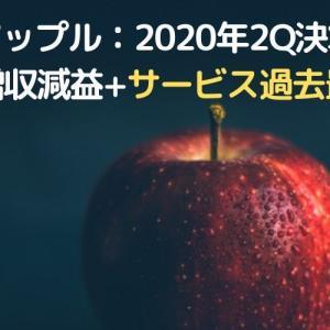 ◆アップル:2020年2Q決算◆微増収減益もサービス売上過去最高