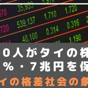◆タイ格差社会の象徴◆500人が株式の36%・時価総額7兆円を保有!
