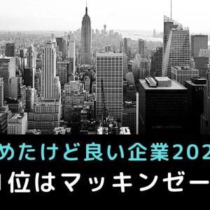◆辞めたけど良い企業ランキング◆2020年度の1位はマッキンゼー