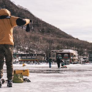 ガスヒーターを買ってワカサギ釣りに使ってみました
