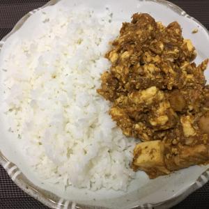 豆腐とサバのドライカレー