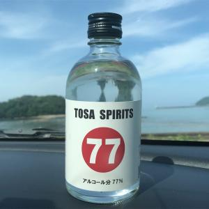 TOSA SPIRITS  アルコール分 77%の土佐鶴酒造のお酒