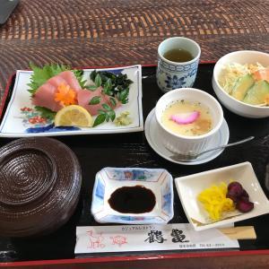 レストラン「鶴亀」の お刺身ランチ