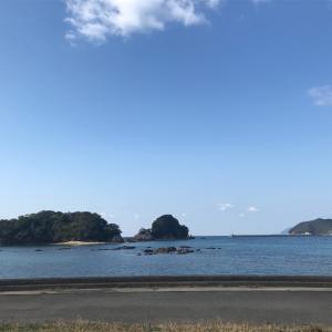 咸陽島にキャンパーさんのテントの花盛り