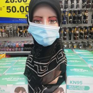 ヒジャブ用のマスク♪〜マレーシア・クアラルンプール