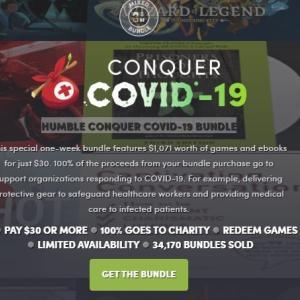 「HUMBLE CONQUER COVID-19 BUNDLE」バンドル評価【ゲーム45本 30ドル】100%チャリティーバンドル