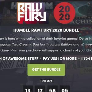 「HUMBLE RAW FURY 2020 BUNDLE」ゲームバンドル評価:既出作品多めか