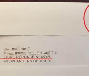 フランス 切手を貼らずに投函したら戻ってきてしまった小切手入りの封筒