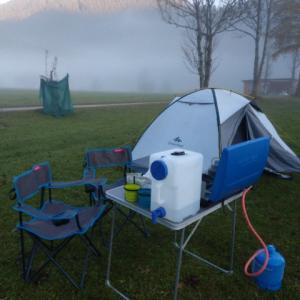 初オーストリアで秋キャンプ Kernhof編
