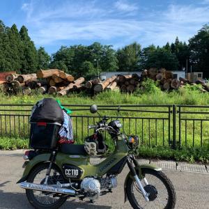 バイクで日本一周、秋田から青森に向けって