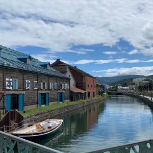バイクで日本一周、北海道の小樽に着きました