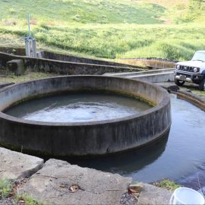 千足池の円筒分水と第二千足池【広島県】