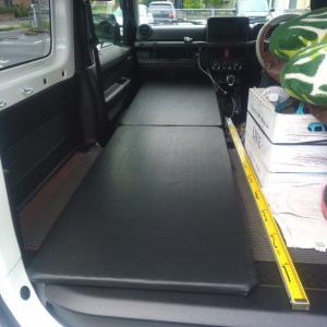 車中泊用の簡易ベット自作しました。