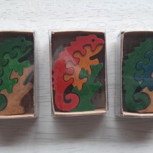 小っちゃな宝物「南アフリカの木製動物パズル」