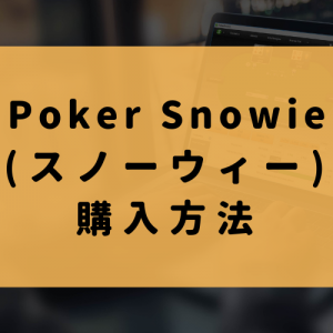 PokerSnowie購入方法(新規登録して購入)