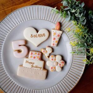 商品追加しました! アイシングクッキーセット~Birthday(女の子)~♪