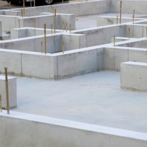 着工10日目/16日目◆基礎のコンクリートが流し込まれてた