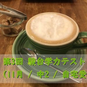 第3回 駿台学力テスト (11月 / 中2 / 自宅受験)自己採点