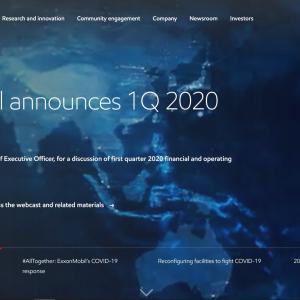 【XOM決算発表】マークス、エクソン・モービル(XOM)の2020年第1四半期決算発表を確認する。