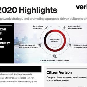 【VZ決算】マークス、ベライゾン・コミュニケーションズ(VZ)の2020年第1四半期決算を確認する。
